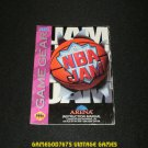 NBA Jam - Sega Game Gear - 1993 Manual Only