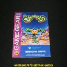 Battletoads - Sega Game Gear - 1993 Manual Only