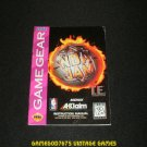 NBA Jam Tournament Edition - Sega Game Gear - 1994 Manual Only