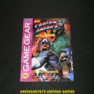 Captain America and the Avengers - Sega Game Gear - 1993 Manual Only