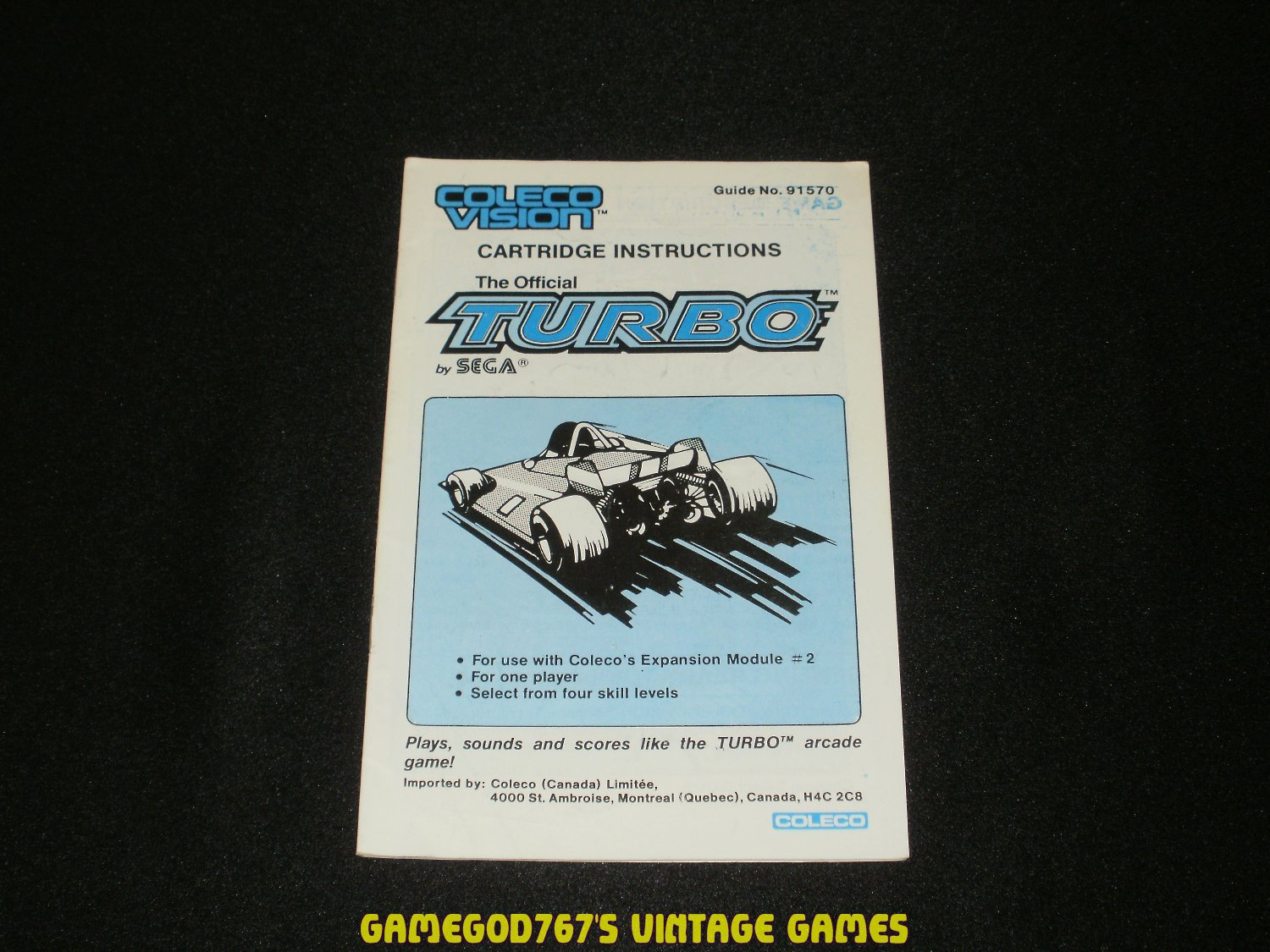 Colecovision Game manuals