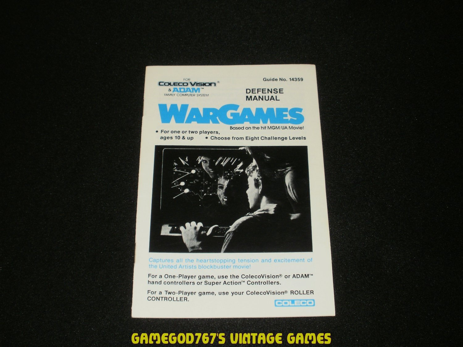 Wargames - ColecoVision - 1984 Manual Only