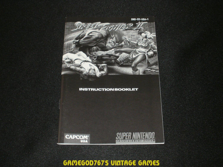 Street Fighter II - SNES Super Nintendo - 1997 Manual Only