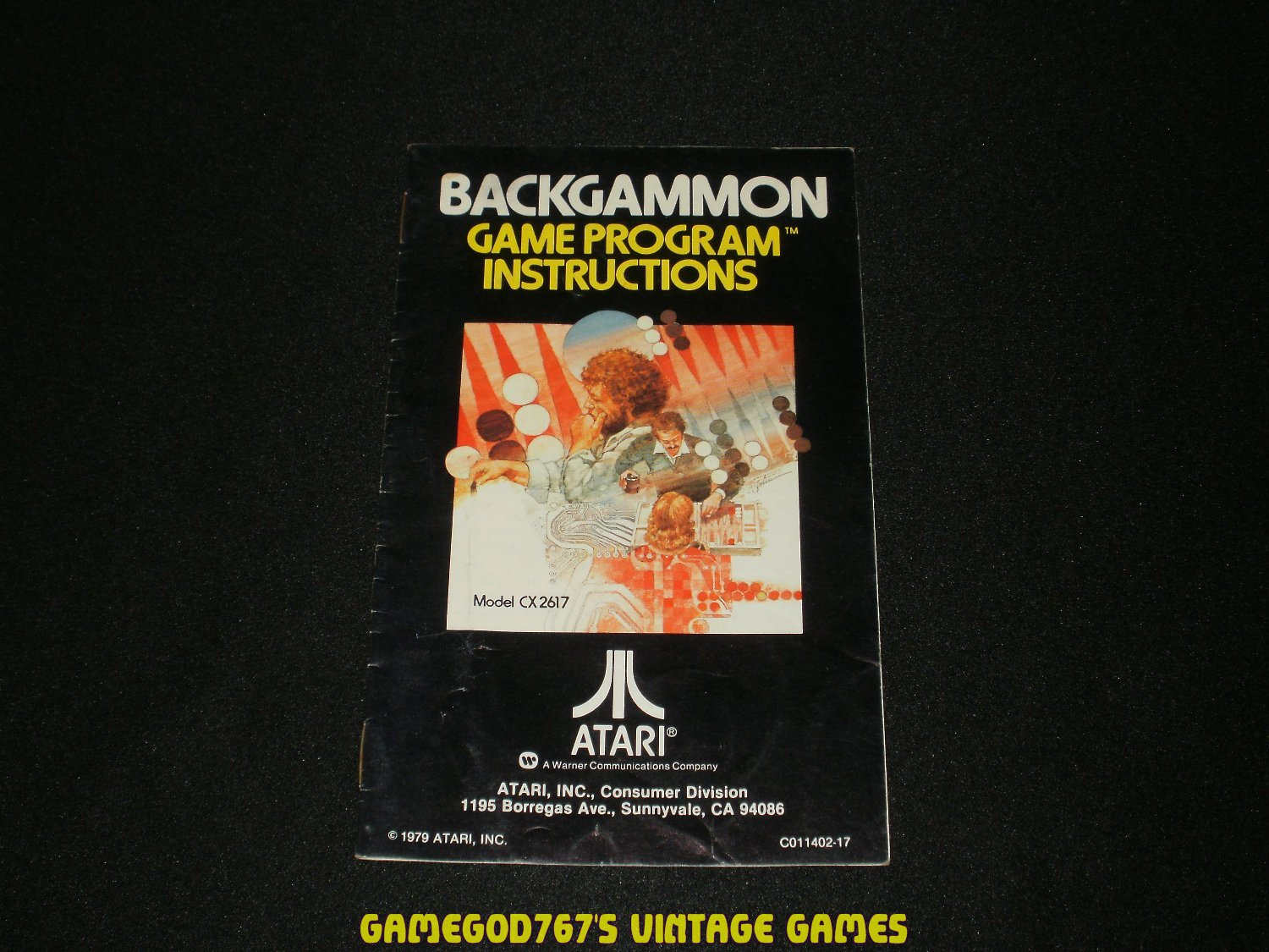 Backgammon - Atari 2600 - 1979 Manual Only