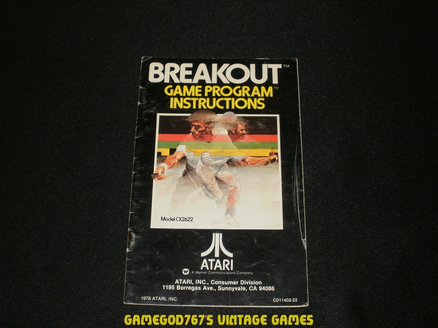 Breakout - Atari 2600 - 1978 Manual Only