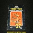 Target Fun - Atari 2600 - 1977 Manual Only