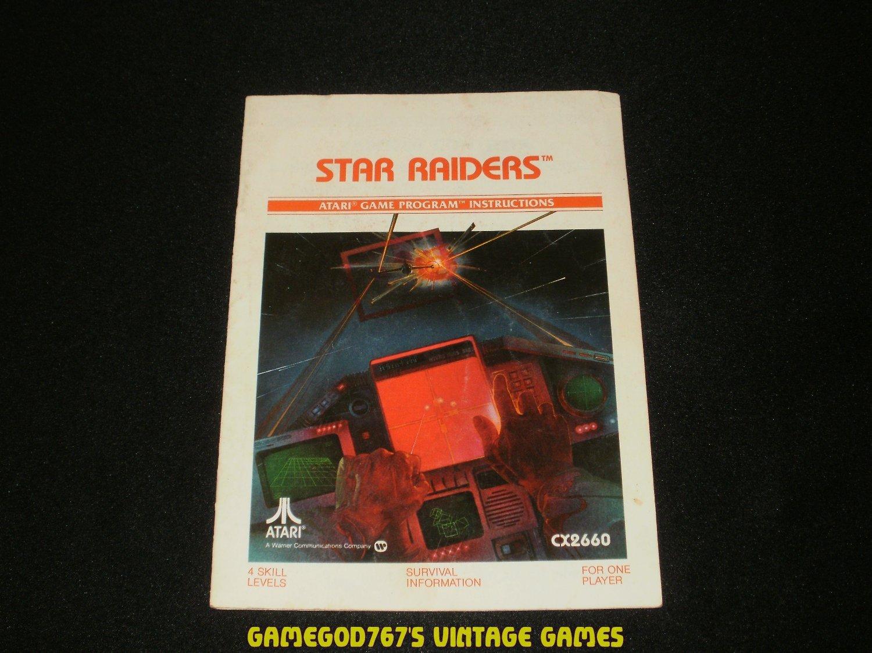 Star Raiders - Atari 2600 - 1982 Manual Only