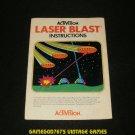 Laser Blast - Atari 2600 - 1981 Manual Only