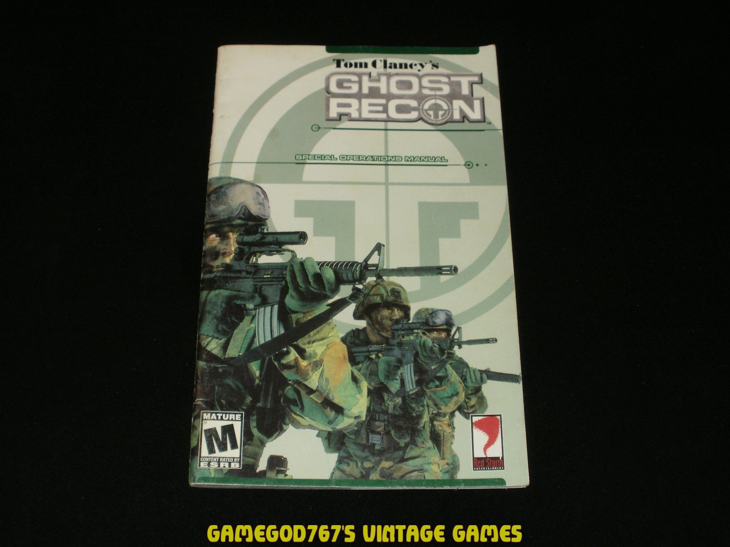 Tom Clancy's Ghost Recon - IBM PC - 2001 Manual Only