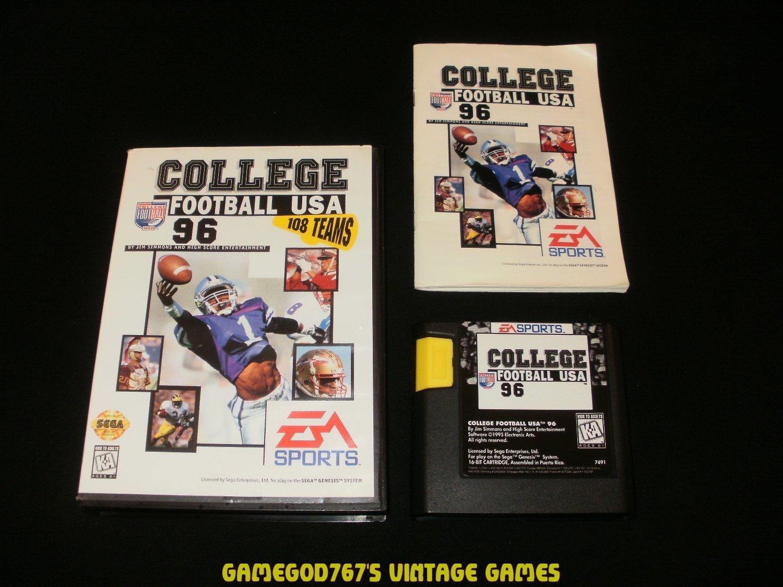 College Football USA 96 - Sega Genesis - Complete CIB
