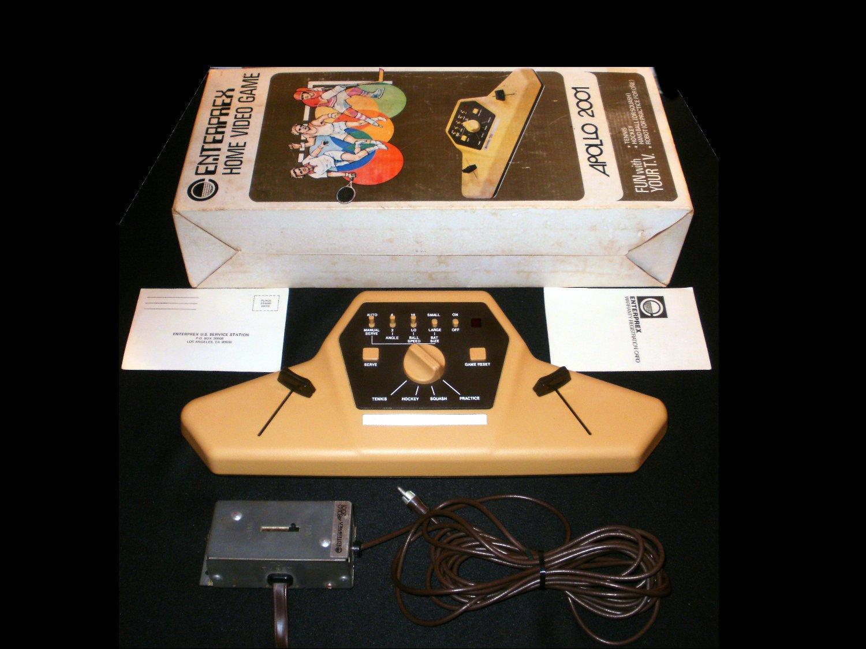 Apollo 2001 - Vintage Pong Console - Entreprex 1977 - Complete CIB - Rare