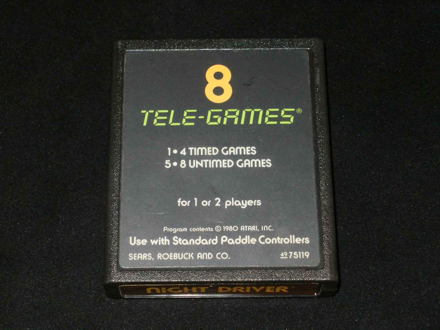 Night Driver - Tele-Games Version - Atari 2600