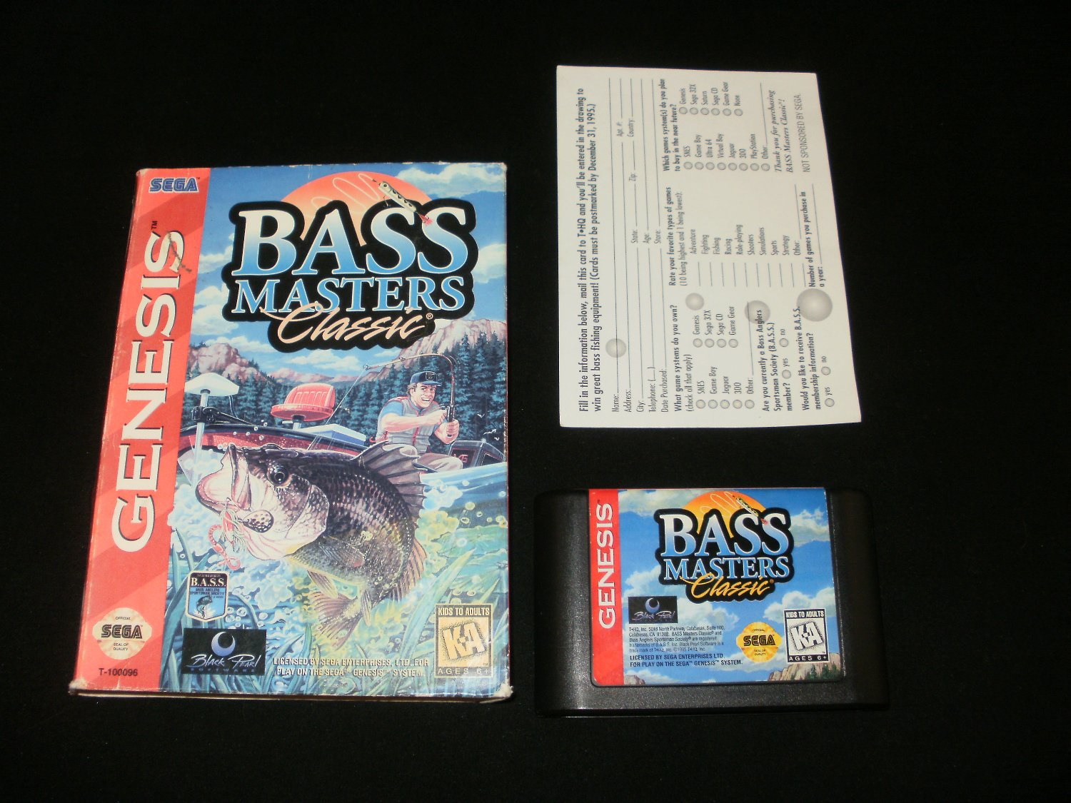 Bass Masters Classic - Sega Genesis - With Box & Warranty Card
