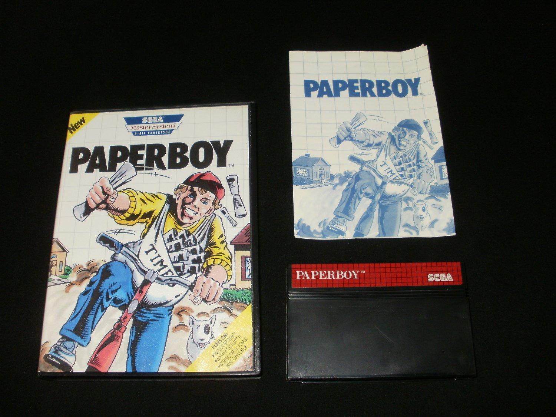 Paperboy - Sega Master System - Complete CIB