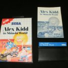 Alex Kidd in Shinobi World - Sega Master System - Complete CIB - Rare Blue Label Version