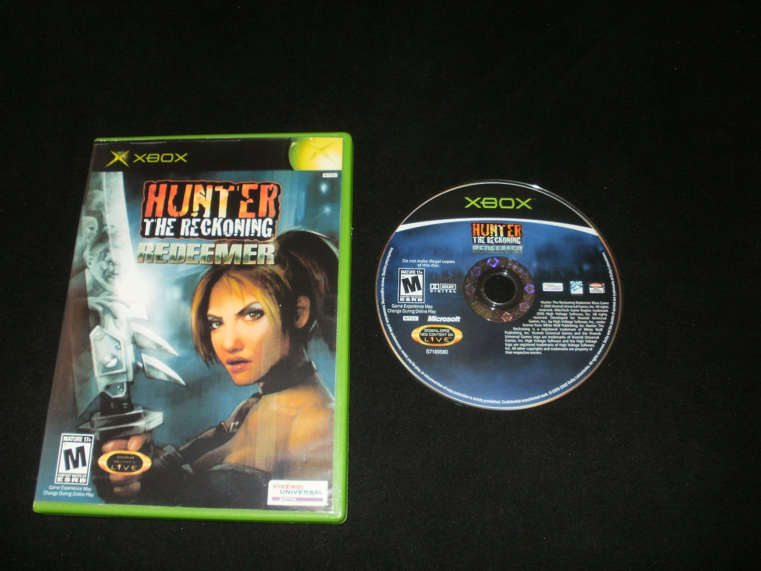 Hunter The Reckoning Redeemer - Xbox - With Box