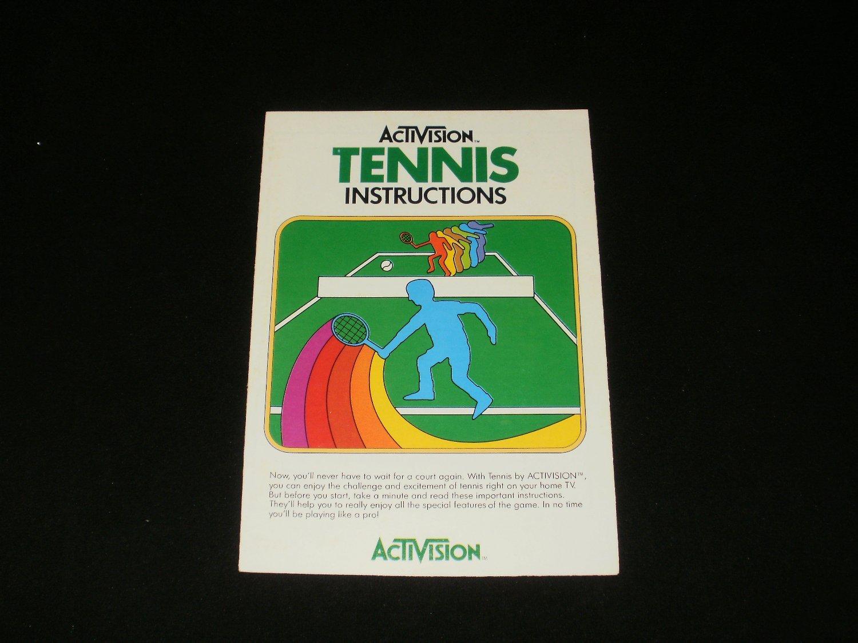 Tennis - Atari 2600 - 1981 Manual Only