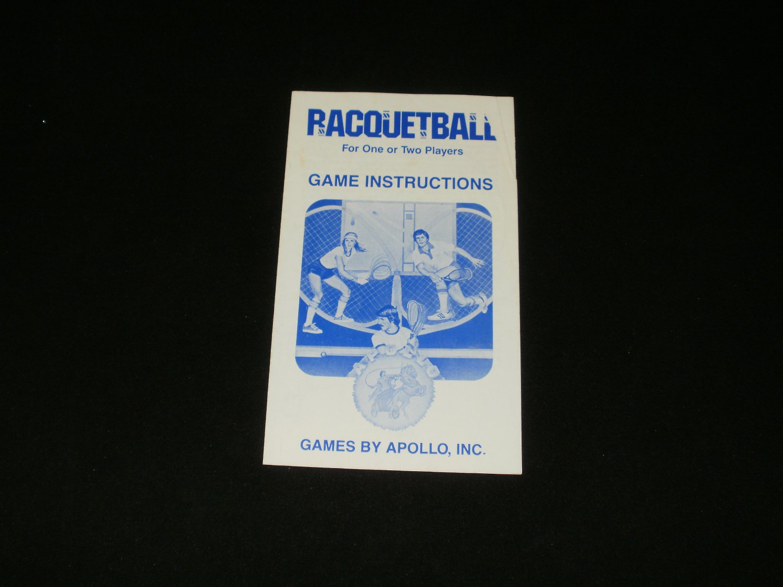 Racquetball - Atari 2600 - 1981 Manual Only