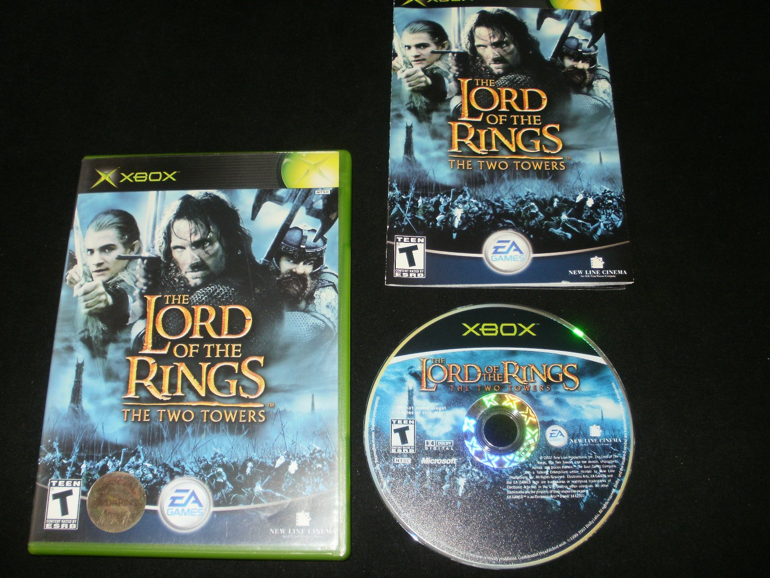 Lord of the Rings The Two Towers - Xbox - Complete CIB - Original 2003 Release