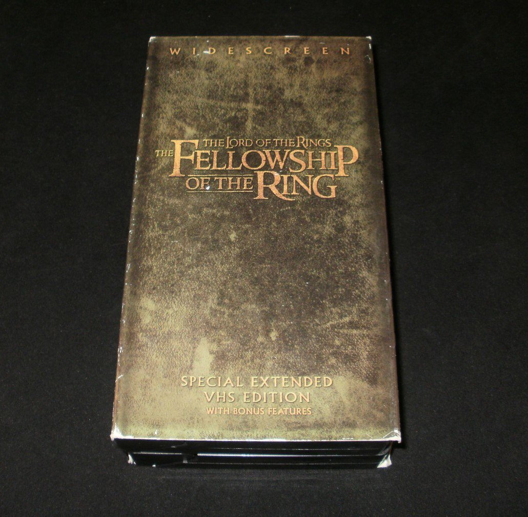 The Lord of Rings Fellowship of Ring (Special Extended Edition) - VHS - 2 Tape Set