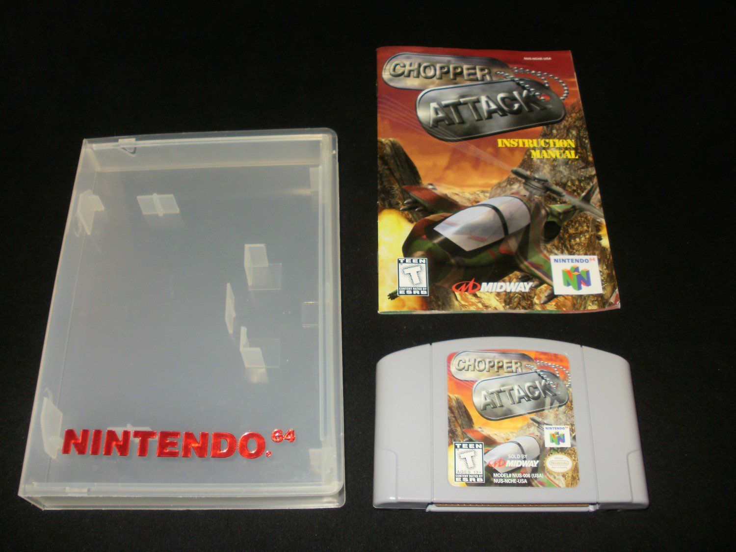 Chopper Attack - N64 Nintendo - With Manual & Case