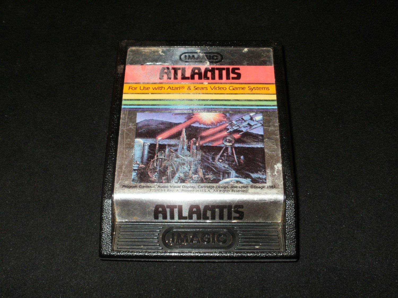 Atlantis - Atari 2600 - Night Scene Label