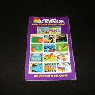 Activision Game Catalog - Atari 2600 - AG94008 1982 Version
