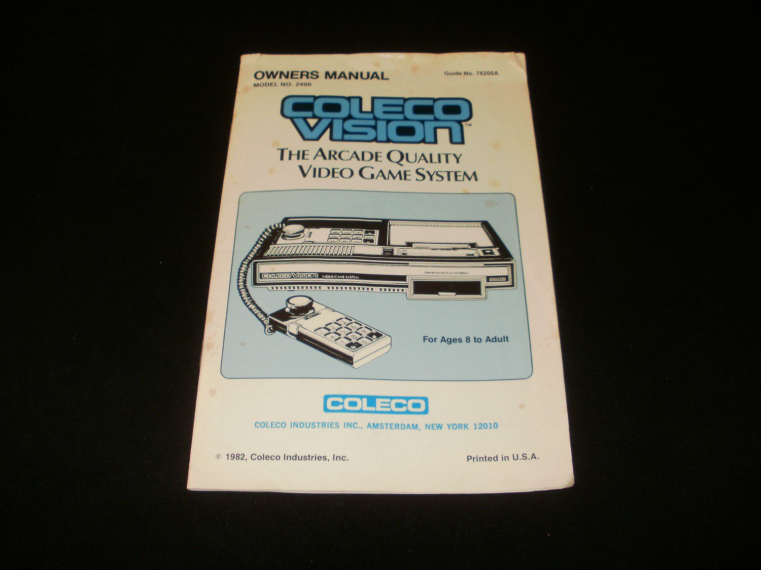Colecovision Owner's Manual - ColecoVision - 1982 Manual Only