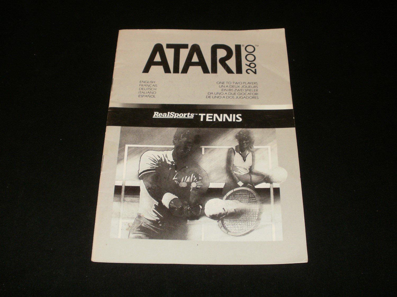 Realsports Tennis - Atari 2600 - Manual Only