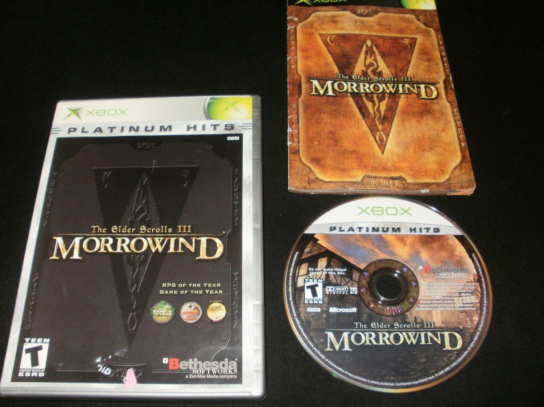 Elder Scrolls III Morrowind - Xbox - Complete CIB - Game of the Year Edition Platinum Hits Version