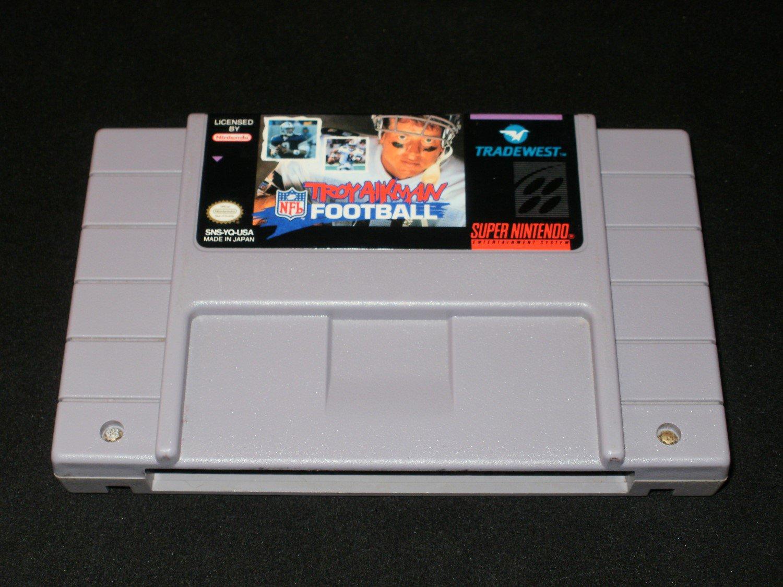 Troy Aikman Football - SNES Super Nintendo
