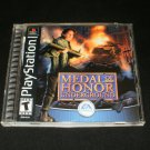 Medal of Honor Underground - Sony PS1 - Complete CIB - 2000 Black Label Release