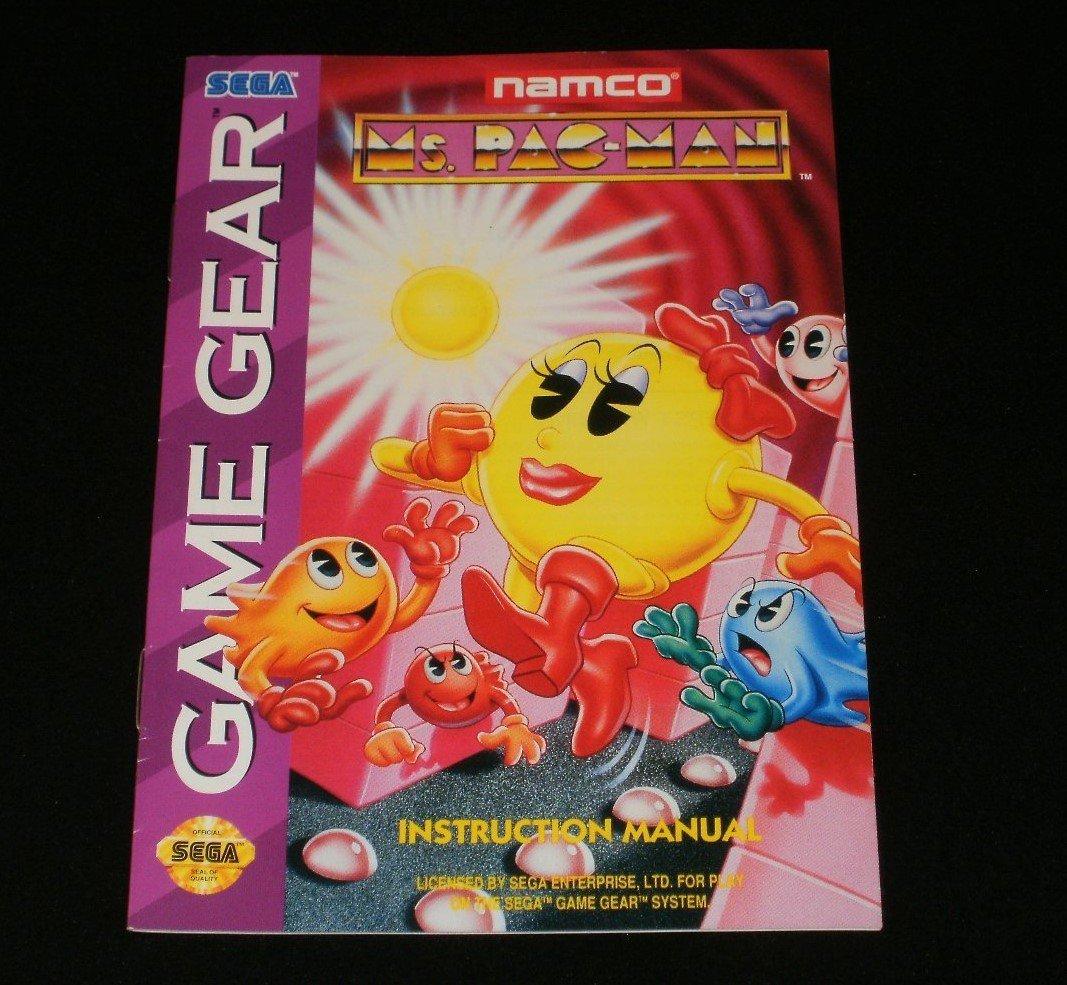 Ms. Pac-Man - Sega Game Gear - 1993 Manual Only