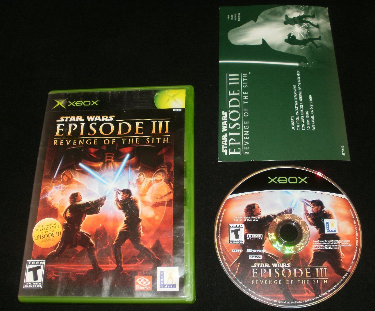 Star Wars Episode III Revenge of the Sith - Xbox - With Box