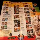 Electronic Arts Poster Catalog - Sega Genesis 1993 - Never Used