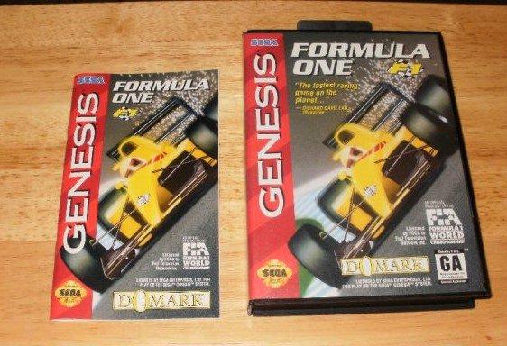 Formula One - Sega Genesis - Manual and Box Only