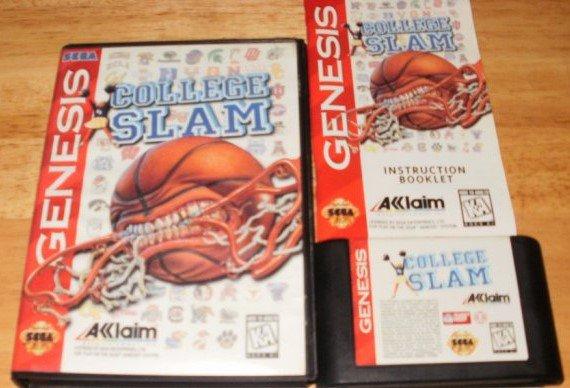 College Slam - Sega Genesis - Complete CIB