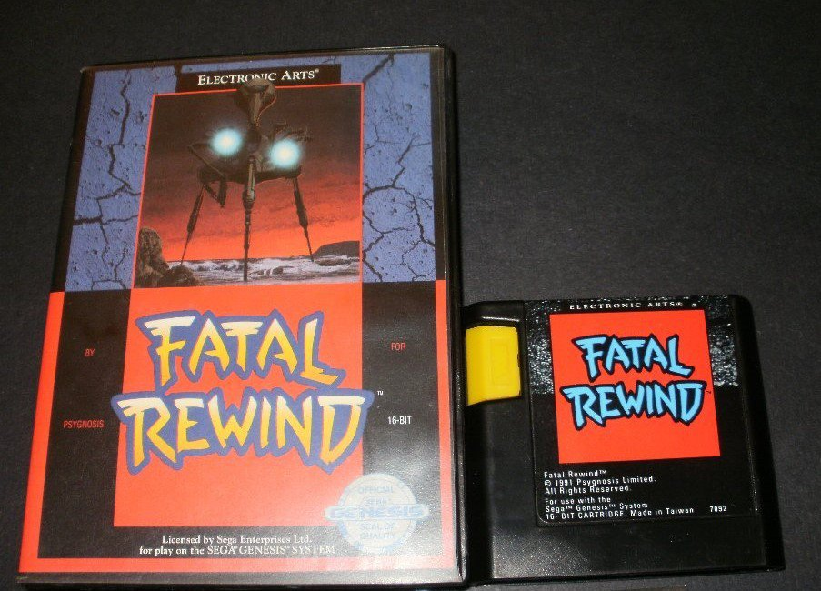 Fatal Rewind- Sega Genesis - With Box