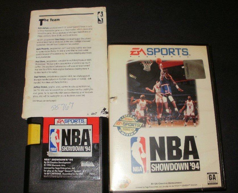 NBA Showdown '94 - Sega Genesis - Complete CIB