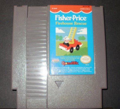 Fisher Price Firehouse Rescue - Nintendo NES - Rare