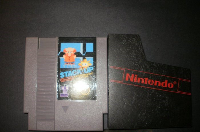 Stack Up - Nintendo NES - With Cartridge Sleeve - Rare