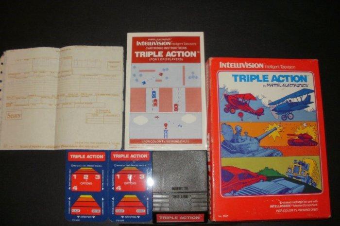 Triple Action - Mattel Intellivision - Complete CIB