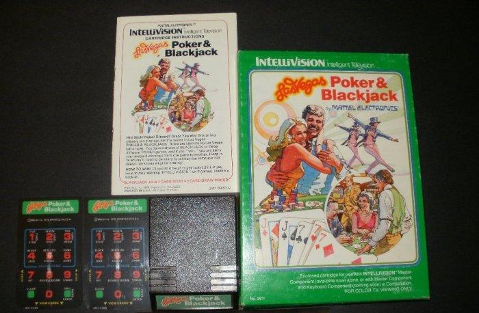 Las Vegas Poker & Blackjack - Mattel Intellivision - Complete