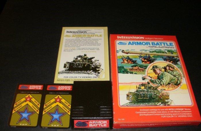 Armor Battle - Mattel Intellivision - Complete CIB