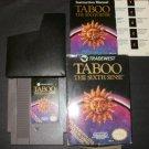 Taboo: The Sixth Sense - Nintendo NES - Complete CIB