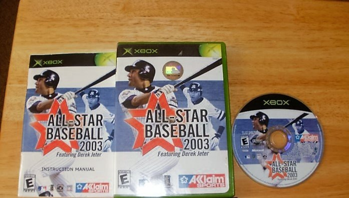 All-Star Baseball 2004 featuring Derek Jeter - Microsoft Xbox - Complete CIB