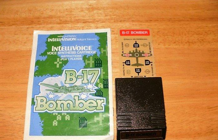 B-17 Bomber -  Intellivision - With Overlay & Manual