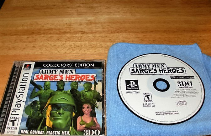 Army Men Sarge's Heroes Collectors Edition - PS1 - Complete CIB