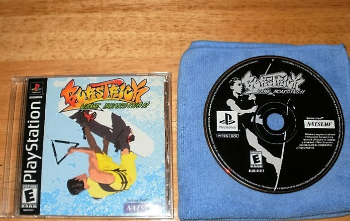 Burstrick Wake Boarding - PlayStation PS1 - With Manua