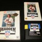 Madden 94 - Sega Genesis - Complete CIB